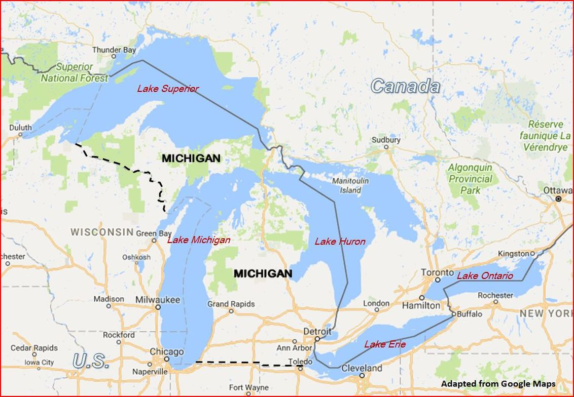 Map Of Michigan Lakes World Map Png Pokemon Crystal Map - Us map of lakes